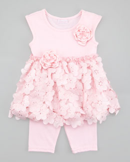 Cach Cach Tiny Trousseau Pink Iicy Tunic & Leggings