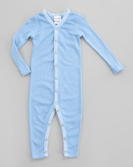 Splendid Littles Solid Snug-Fit Playsuit, Sky Ribbon