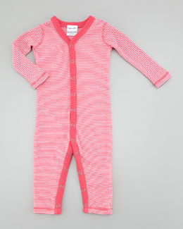Splendid Littles Striped Long Playsuit, Flamingo