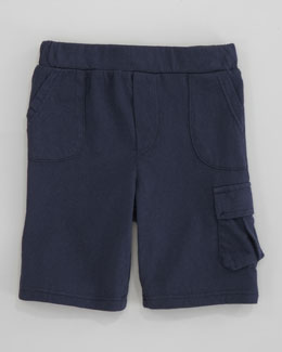 Splendid Littles Jersey Cargo Short, Navy