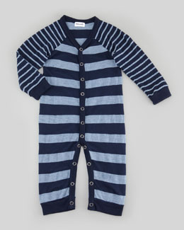 Splendid Littles Mix Striped Playsuit, Chambray/Navy