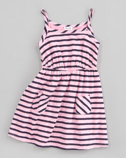 Splendid Littles Miami Striped Dress, Pink