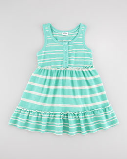 Splendid Littles Sugarcane Striped Tank Dress, Seashell