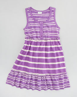 Splendid Littles Sugarcane Striped Tank Dress, Jellyfish, Sizes 4-6X