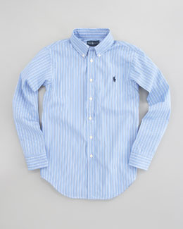 Ralph Lauren Childrenswear Custom-Fit Striped Oxford Shirt, Sizes 4-7