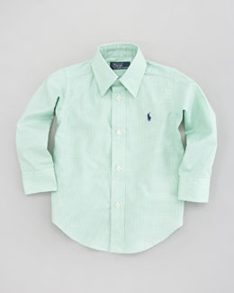Ralph Lauren Childrenswear Green Long-Sleeve Lowell Shirt, Sizes 4-7