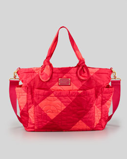 MARC by Marc Jacobs Eliz-A-Baby Pretty Nylon Bag, Poppy Pink