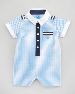 Andy & Evan Gingham Around-the-Rosie Playsuit