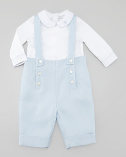 Ralph Lauren Childrenswear Woven Twill Overalls Set