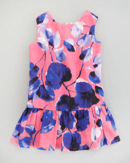 Milly Minis Emme Ivy-Print Dress, Sizes 2-6