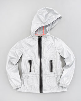 Milly Minis Reflective Tech Zip Jacket, Sizes 8-10