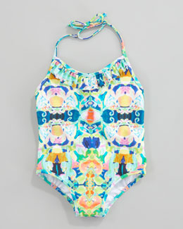 Milly Minis Kaleidoscope Print One-Piece Swimsuit, 8-10