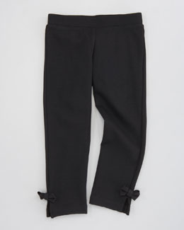 Milly Minis Bow Detail Ponti Legging, Sizes 8-10