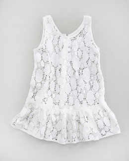 Milly Minis Reese Crochet Lace Tunic, Sizes 2-7