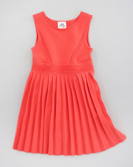 Milly Minis Courtney Pleated Knit Dress, Sizes 2-7