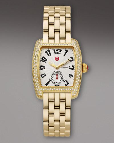 MICHELE Urban Mini Diamond Gold Watch