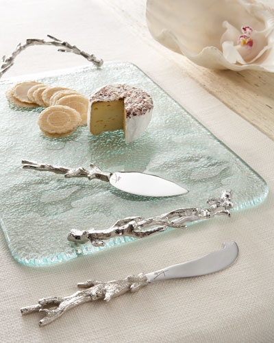 """Ocean Coral"" Cheese Board & Spreaders"
