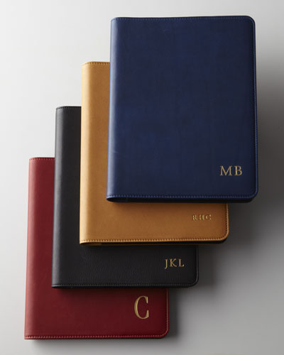"9"" Leather-Bound Notebook & Spiral Notebook Refills"