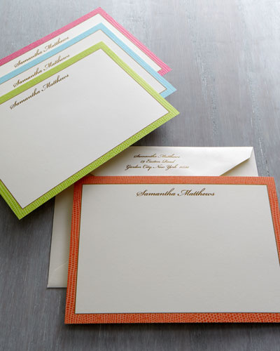 "Caspari ""Lizard"" Correspondence Cards & Envelopes"