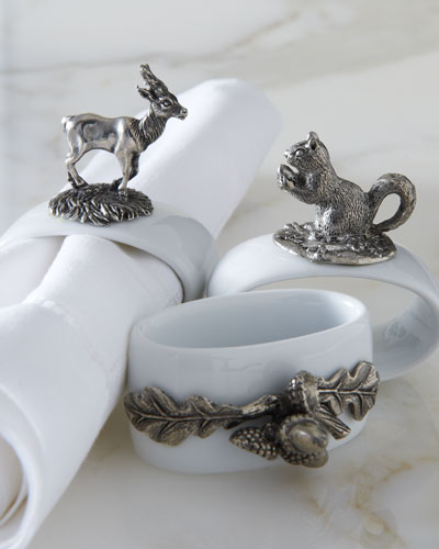 Vagabond House Woodland Napkin Rings
