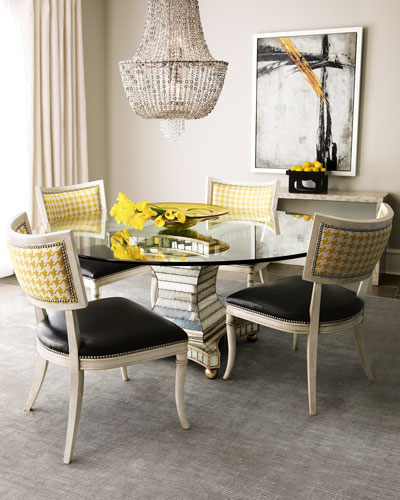 "John-Richard Collection ""Erlinda"" Dining Table & ""Calvin"" Chair"