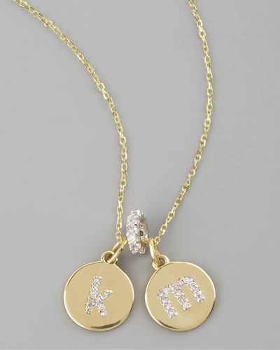KC Designs Diamond-Initial Necklace & Spacer Pendant
