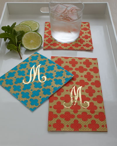 "Caspari ""Tile"" Guest Towels and Napkins"