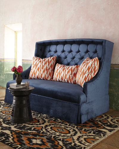"Haute House ""Rae"" Velvet Sofa & ""Deuce"" Pillows"