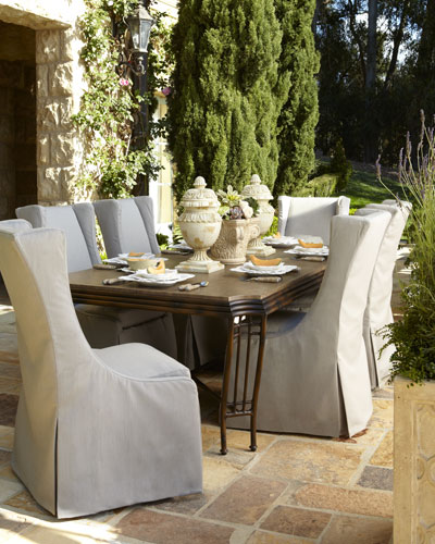 """""""Shangri-La"""" Dining Table & Upholstered Chair"""