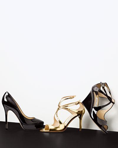 Jimmy Choo Patent Pump & Crisscross Sandals