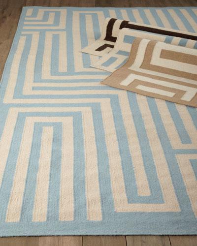 "Exquisite Rugs ""Graphic Maze"" Flatweave Rug"