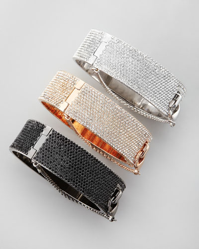 Eddie Borgo Pave Crystal Safety Chain Cuff