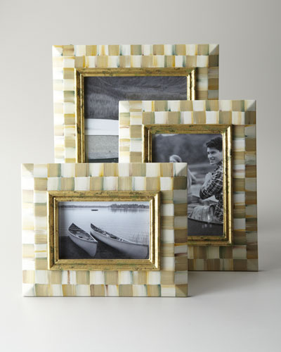 MacKenzie-Childs Parchment Check Photo Frames