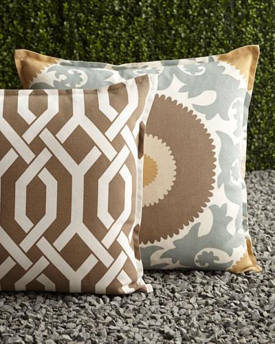 Mint & Chocolate Outdoor Pillows