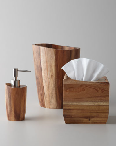 Kassatex Acacia Wood Vanity Accessories