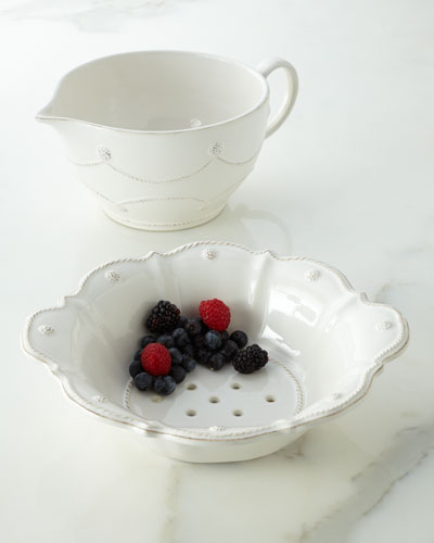 """Berry & Thread"" Batter Bowl & Colander"