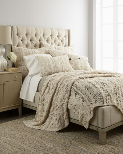 "Amity Home ""Micah"" Cable-Knit Bed Linens"