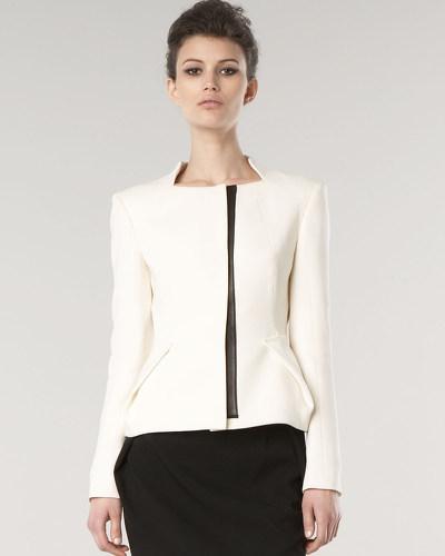 Gianfranco Ferre Leather-Trim Jacket