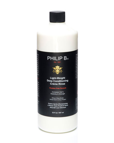 Philip B Light-Weight Deep  Conditioning Creme Rinse—Paraben Free Formula, 32 oz.