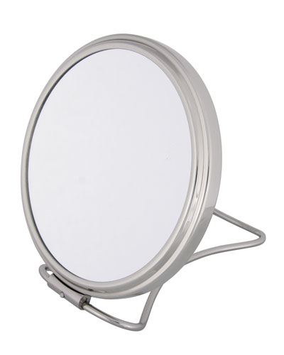 Chrome Stand Folding Double Sided Travel Mirror, 5.25""