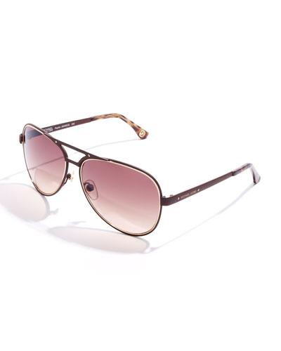 MICHAEL Michael Kors  Peyton Aviator Sunglasses