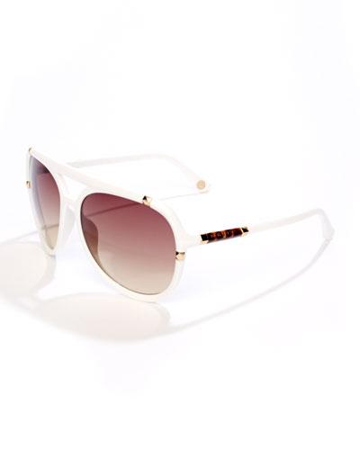 MICHAEL Michael Kors  Jemma Studded Aviator Sunglasses