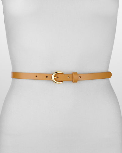 Rivette Smooth Leather Belt, Tan