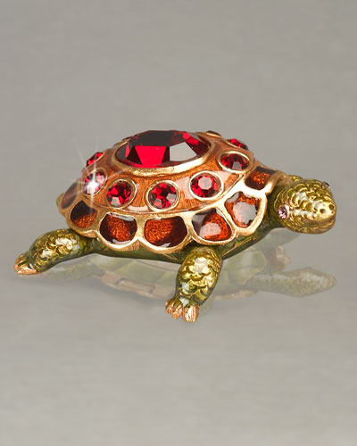 Jay Strongwater Turtle Birthstone Box