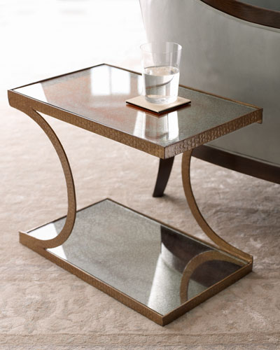 Arteriors Mirrored Side Table