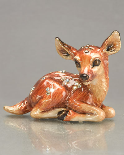 "Jay Strongwater ""Jane"" Fawn Mini Figurine"