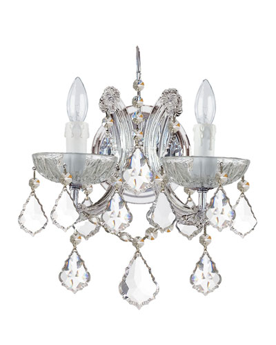 """Ariana"" Two-Light Crystal Sconce"