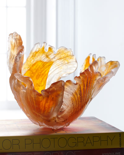 "Amanda Brisbane ""Orange Blaze"" Glass Bowl"