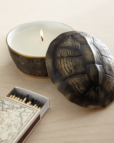 Turtleshell-Lidded Candle