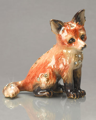 "Jay Strongwater ""Damien"" Mini Fox Figurine"
